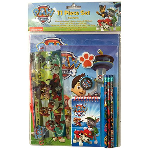 Paw Patrol's 11-piece Stationary Set
