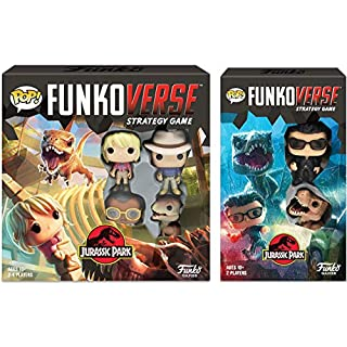 Funko Pop! Funkoverse: Jurassic Park Strategy Game Bundle with Jurassic Park Expandalone Expansion