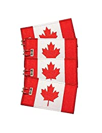 Kaichen Luggage Tags, Canadian Flag, Embroidered, 4 Pack,Never Break! (2)