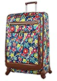Lily Bloom Luggage Large Expandable Design Pattern Suitcase With Spinner Wheels For Woman (I Like Turtles, 28in)