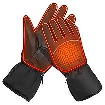Dstper 電熱グローブ スキーグローブ 防寒グローブ ホット手袋 電...