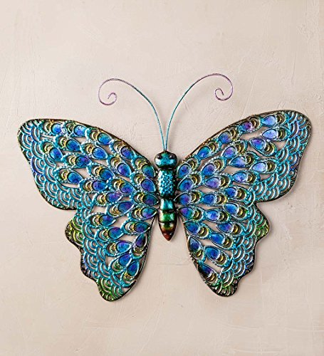 - Iridescent Metal Butterfly Wall Art, 22.25 W x 1 D x 17.50 H