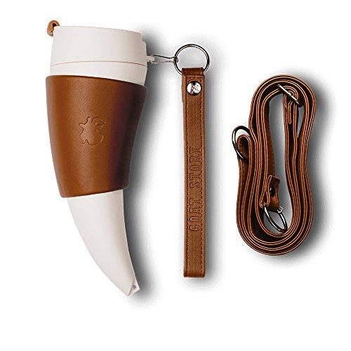 GOAT STORY Mug, Real leather, 12 oz, Brown