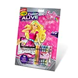 Crayola Color Alive Action Coloring Pages-Barbie
