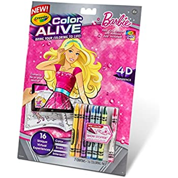 crayola color alive action coloring pages barbie - Crayola Color Alive Special Pages