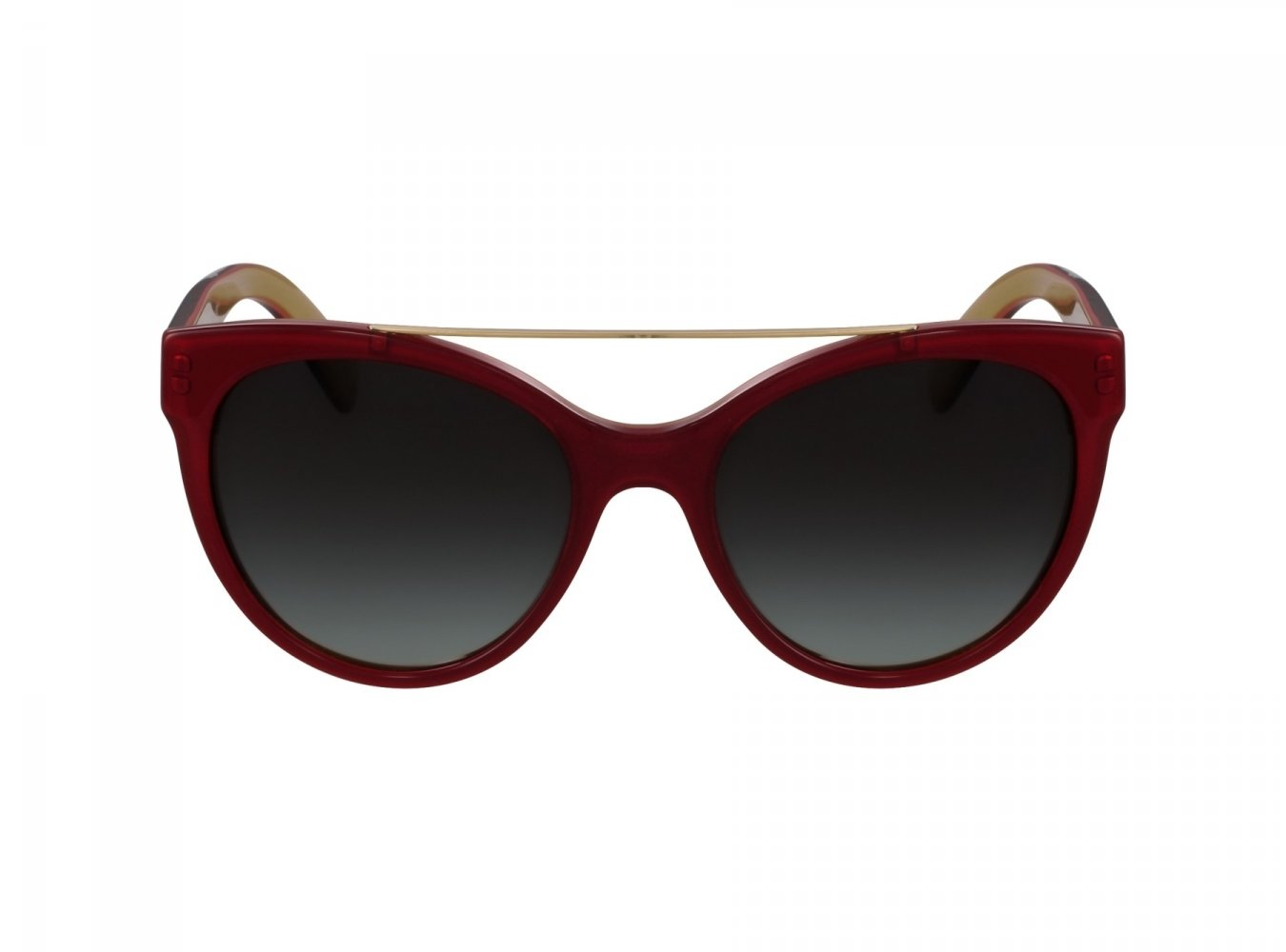 Dolce & Gabbana Women's 0dg4280 Round Sunglasses, Top Red on Gold, 57 mm