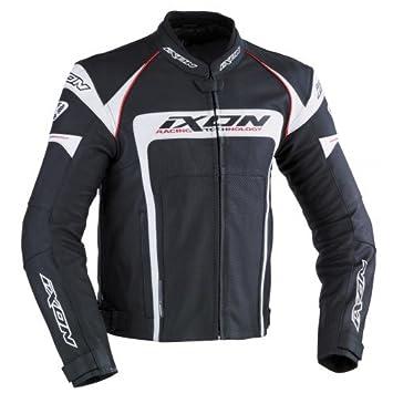 Ixon - Chaqueta Moto - Ixon Fueller Negro absoluto/Blanco - XL: Amazon.es: Coche y moto