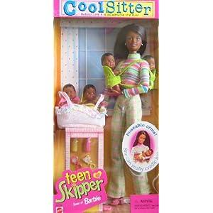Barbie Cool Sitter Teen SKIPPER Doll AA w 4 Babies Dolls (1998)