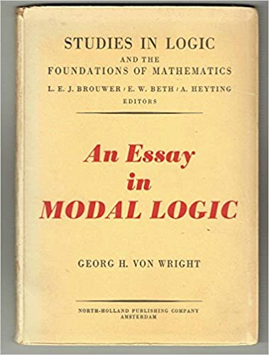 an essay in modal logic georg h von wright com books