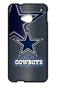 Hoomin Dallas Cowboys Mental Like Grey HTC One M7 Cell Phone Cases Cover Popular Gifts(Laster Technology) by icecream design