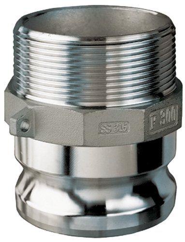 Kuriyama SS304-F400 Stainless Steel Part F Male Adapter x Male NPT, 4'' by Kuriyama
