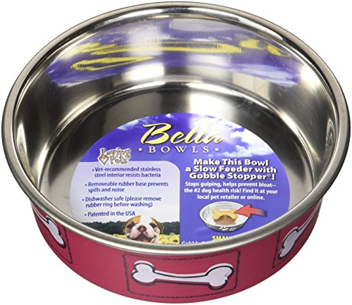 Loving Pets 7519 Coastal Bella Bowl for Dogs, Small, Hawaiian Red