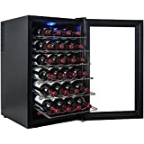 AKDY® 28 Bottle Single Zone Thermoelectric Freestanding Wine Cooler Cellar Chiller Refrigerator Fridge Quiet Operation