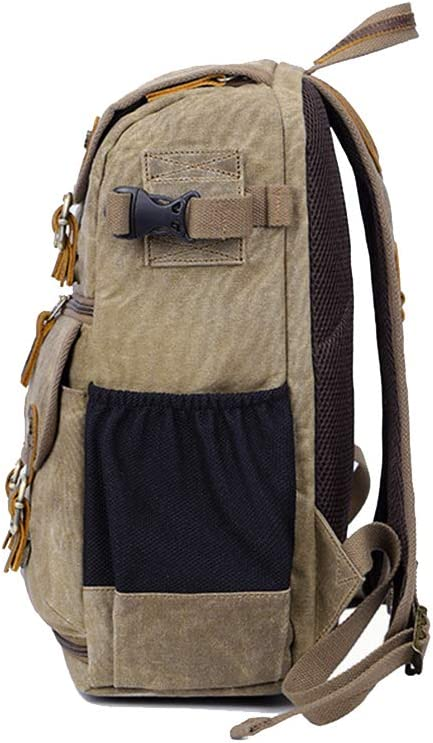 Camera Backpack Case Professional Gear Photography Travel Backpack Rucksack with Inner Padding Canvas Large Capacity Multi-Function Waterproof Anti-Shock SLR//DSLR Gadget Camera Bag Camera Cases