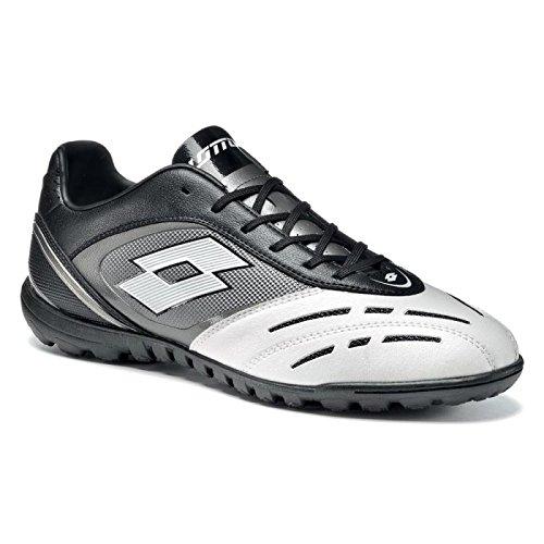 Lotto Stadio Potenza VL 700TF Chaussures de Football Mult inocken Noir/Blanc