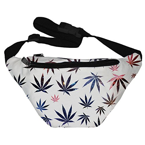 [Funny Guy Mugs Galaxy Weed Fanny Pack] (Easy Halloween Costume Ideas For Guys)