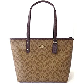 Amazon.com  Coach Outline Signature Zip Top Tote Shoulder Bag   Shoes 1b00be8ba5ebc