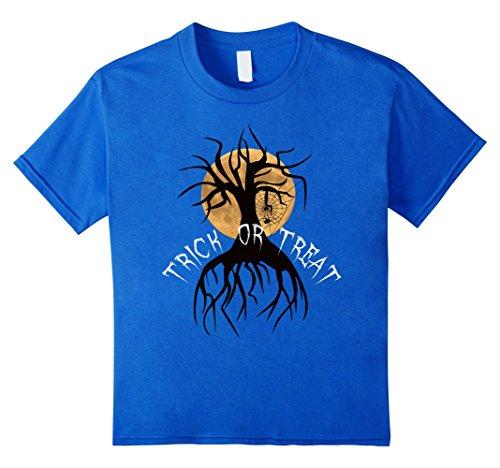 Kids Trick or Treat Shirt, Full Moon on Halloween Tee 10 Royal Blue
