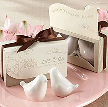 Amazon Com Artlalic Love Bird Salt Pepper Shaker Wedding
