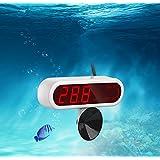cyfellbiu LED full waterproof turtle tank aquarium electronic LCD digital thermometer dive thermometer