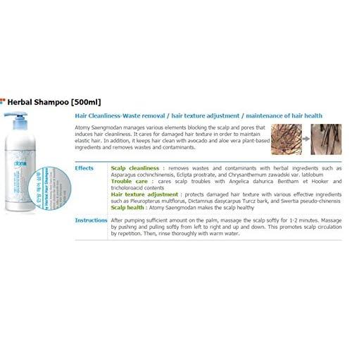 Low Cost Atomy Herbal Hair Shampoo 500 Ml 2 Pcs Wearegameday Com