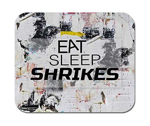 Makoroni - EAT Sleep SHRIKES Animal - Non-Slip Rubber Mousepad, Gaming Office Mousepad (Shrikes Animals)