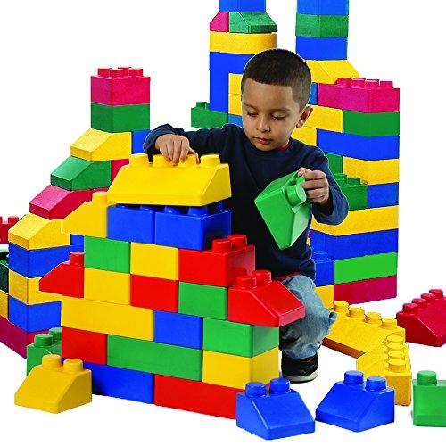 Constructive Playthings EDL-2 Giant Edu-Blocks Double Set - 52 Piece Set of Polyurethane Interlocking Blocks - Set Polyurethane