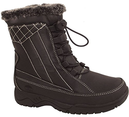 totes Ladies Eve After Ski/Winter Boot from (Black, 8) (Totes Womens Winter Boots Size 8)