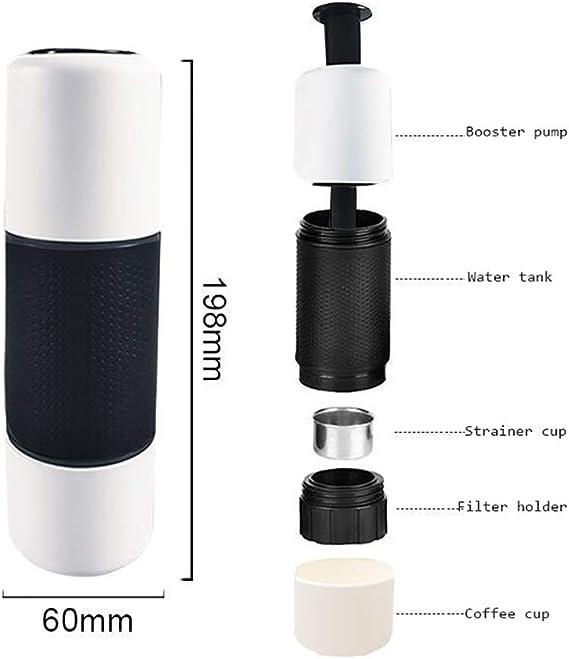 LIGHT Máquina de café Espresso portátil, Mini cafetera,para ...