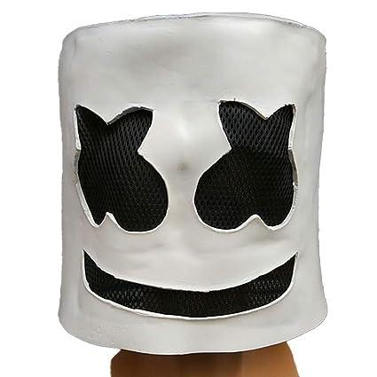 maschera marshmello dj  JINPAI Top 100 Electronic Music Festival Marshmallow Dj Copricapo ...