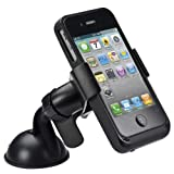 The Black Universal Car Windshield Mount Holder for Iphone 5 4s Ipod GPS Mp3/4 Samsung HTC