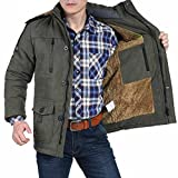 Zicac Men's Hooded Warm Coat Winter Parka Jacket With Faux Fleece Lining...