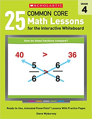 Math Worksheets common core 4th grade math worksheets : Amazon.com: 25 Common Core Math Lessons for the Interactive ...