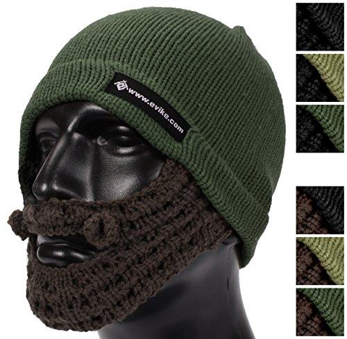 Evike Tactical Beard Beanie - OD Green / Brown - (39624)
