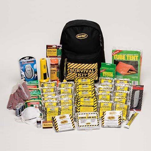 Deluxe - 4 Person Emergency Survival Kit - Back pack Kit