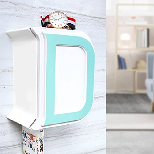 Wall Toile Letters - ZXUE Toilet Paper Holder Creative Letter Tissue Box Toilet Roll Paper Tube Free Punching Toilet Paper Rack Waterproof Paper Towel Rack (Color : C)