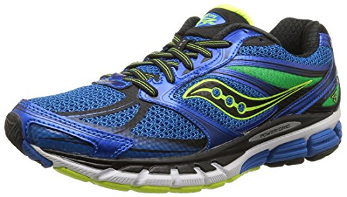 Saucony Men's Guide 8 Running Shoe, Blue/Black/Citron,8.5 M US