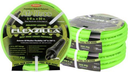 Legacy Flexzilla Whip Air Hose, 6 Feet x 3/8 Inch with 1/...