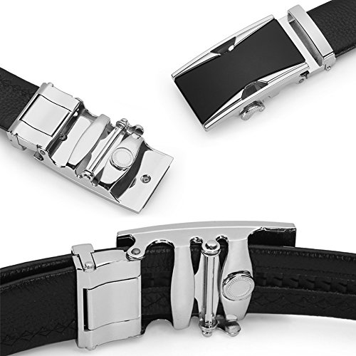 Men's belt, Iztor Genuine Leather belt with Buckle and Enclosed in Gift Box by iztor (Image #3)