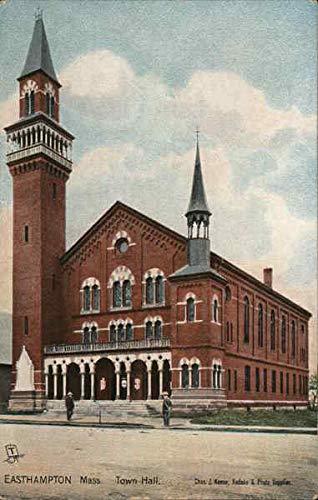 Town Hall Easthampton, Massachusetts Original Vintage Postcard from CardCow Vintage Postcards