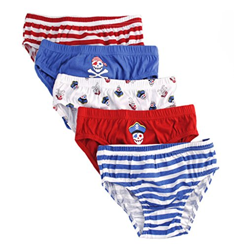 Tom Franks Boys Pirate Pattern 6 Pack Briefs Underpants 7-8 Years