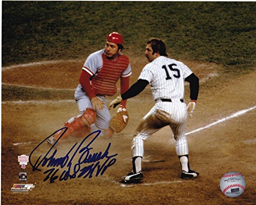 Johnny Bench Signed Picture - 76 WS MVP W MUNSON 8x10 - Autographed MLB -