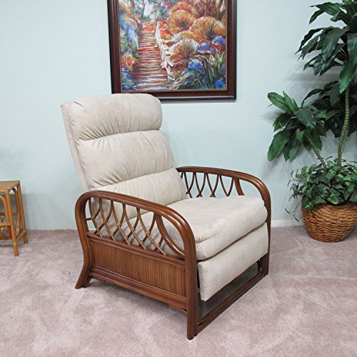 Newton Rattan Upholstered Furniture Recliner Chair Made in USA by urbandesignfurnishings.com