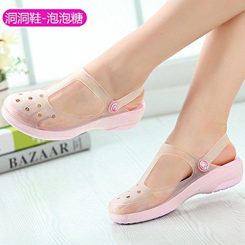 scarpe ITTXTTI 34 donna morbido inferiore spiaggia foro 7 sandali perla gelatina colore verde sandali scarpe donna donna Fashion da estate nbsp;m da sandali xSrwnqS04