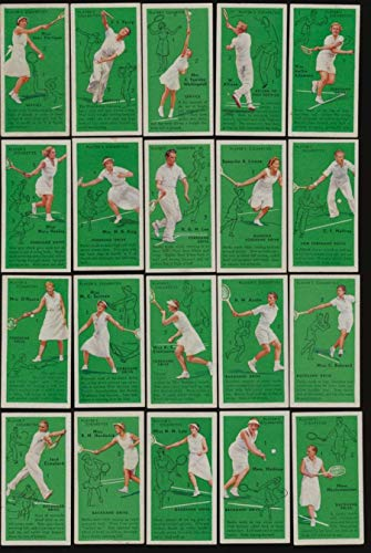 1936 J. Player and Sons Tennis EX avg mid grade complete 50 card set 51405 (Tennis Card Set)