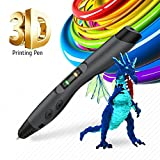 3D Printing Pen, SUNLU 3D Doodling Pen with OLED Display, PLA/ABS/PCL Filament Supported for Kids and Adults, 3D Modeling, Art Design - Black