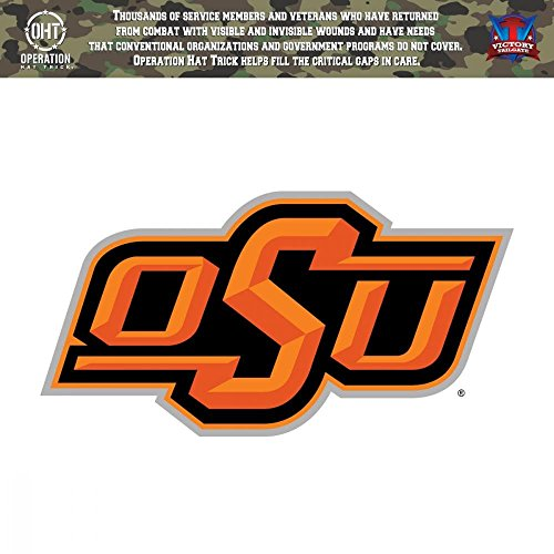 Victory Tailgate Oklahoma State University Cowboys Operation Hat Trick OHT Die Cut Vinyl Decal (6x6)