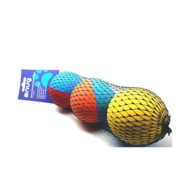 Snug Rubber Dog Balls - Tennis Ball Size - Tough, Durable, Virtually Indestructible - Extra Bouncy (3 Pack) 3