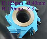 GOWE Spiral Wood Shaper Cutters, D:125mm B:40mm H:120mm Tungsten Carbide Blade for moulder machine