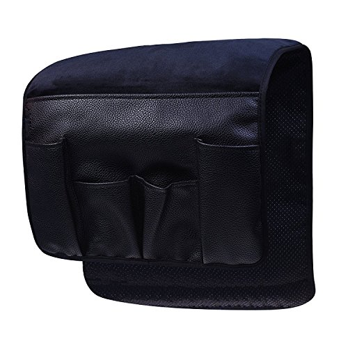 Chair Back Pressed (Wakaka Velvet Non-Slip Epoxy Sofa Couch Chair Armrest Soft Caddy Organizer Cell Phones, Books, Magazines Pencil or TV Remote Control Holder)